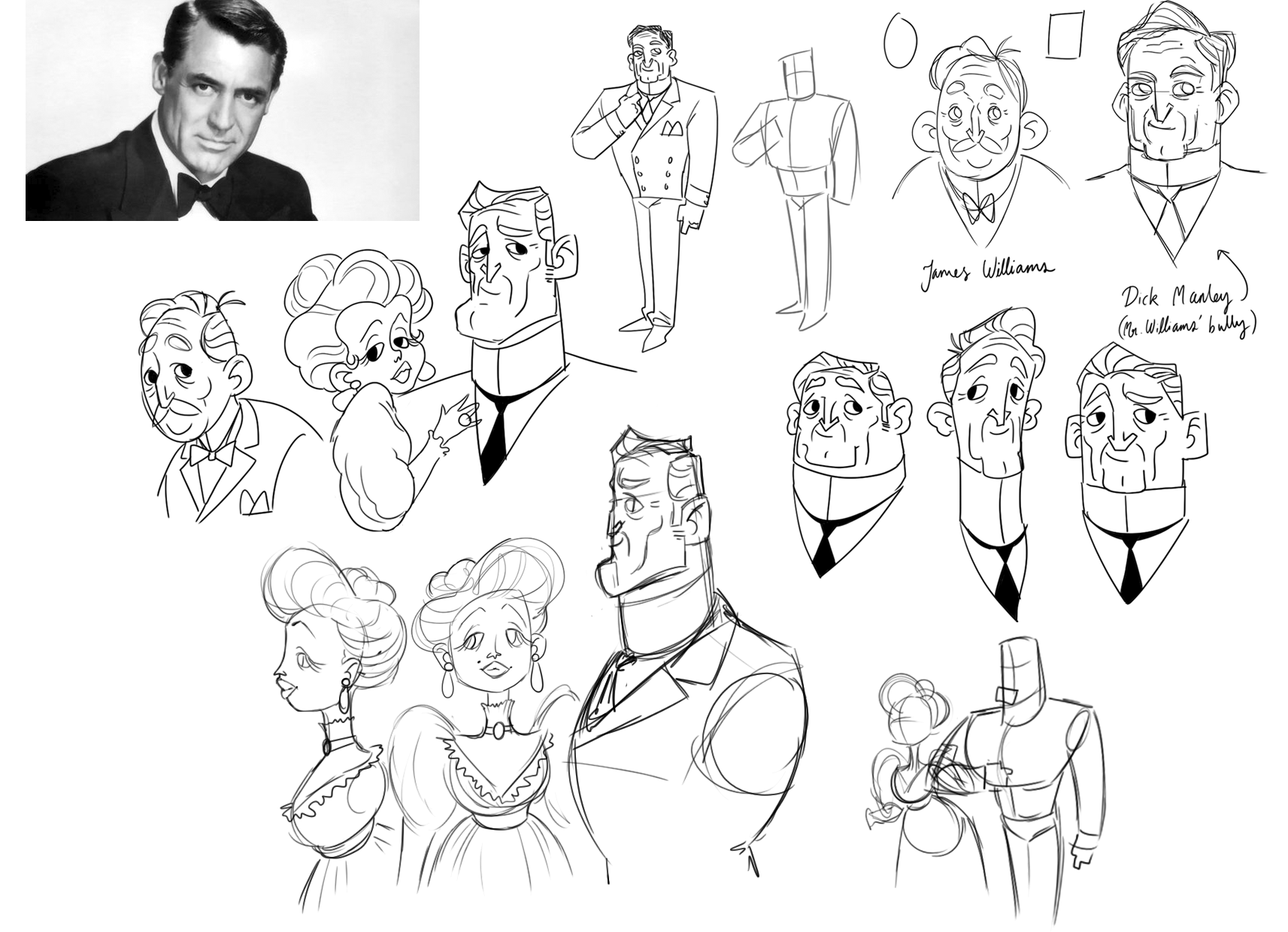 Dick Manley sketches