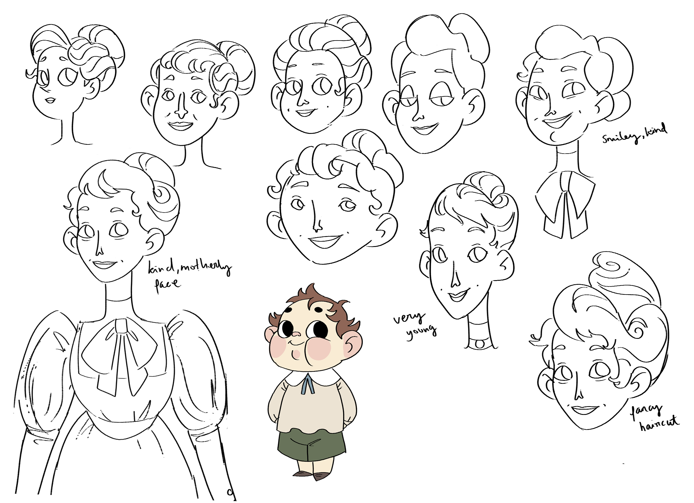 mary character sketches
